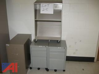 Filing Cabinet, Carts and Book Shelf