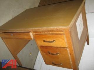 Wooden Teacher's Desk