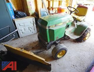 John Deere #316 Lawn Tractor