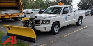 2009 Dodge Dakota Pickup Truck with Plow