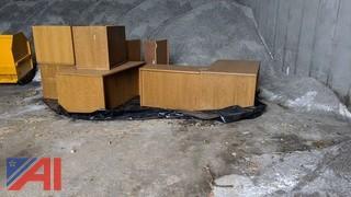 Wooden Desks with Returns