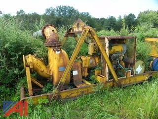 "(17) (90280) 1989 Gorman Rupp Diesel 10"" De-watering Pump"