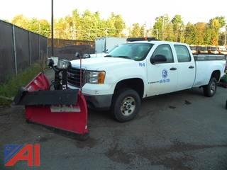 (PO-8) 2009 GMC Sierra 2500HD Crew Cab Pickup Truck with Plow