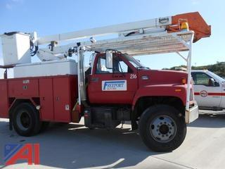2000 GMC C7H042 Utility Truck with Boom Lift