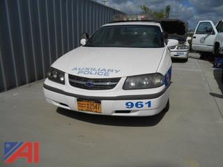 2003 Chevy Impala Sedan/Police Emergency Vehicle