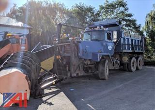 1989 Mack RM6888 Dump Truck With Plow and Wing