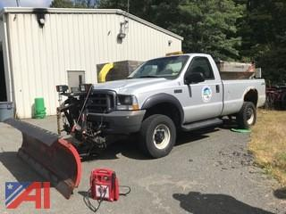 2003 Ford F350 XL Super Duty Pickup Truck with Plow and Sander