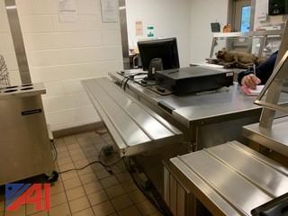 Delfield Serving Station with Eight Door Ice Cream Freezer