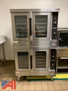 Hobart Double Stack Convection Ovens.