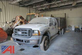 (#1221) 2005 Ford F450 Super Duty Stake Body Truck