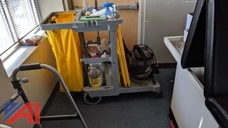 Janitor Cleaning Cart & Supplies