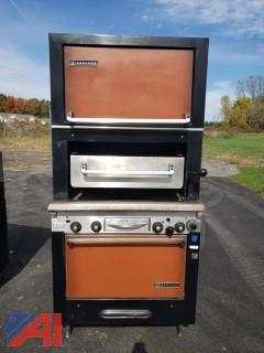 Garland Gas Double Oven with Charbroiler