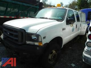 (#21) 2003 Ford F350 Super Duty King Ranch  Crew Cab Dually Pickup Truck with Cap
