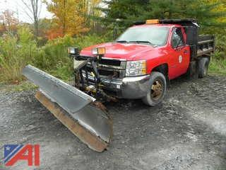 2009 Chevy Silverado 3500HD Dump Truck with Plow