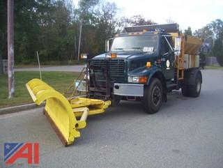 1998 International 4900 Sander Truck with Plow