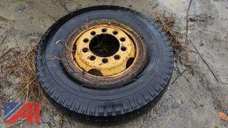 Gradall Tire with Split Rim