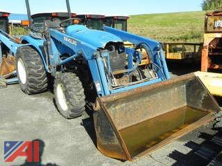 2001 New Holland TC29S Tractor with Bucket and Back Hoe