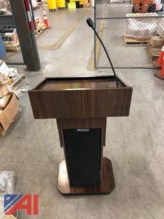 Amplivox Model #S1605 Wooden Podium