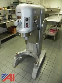 60 Quart Hobart Mixer, Model H-600T with Accessories