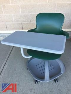 Student Desks with Wheels & Table Attached