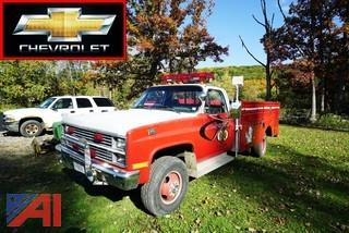 1984 Chevrolet K30 Sierra Classic Light Duty Rescue Vehicle
