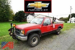 2000 Chevy C/K 2500 Pickup Truck with Plow