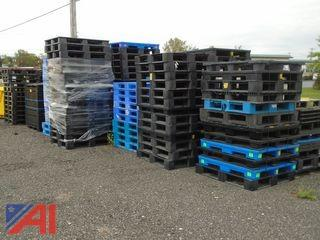 Large Lot of Assorted Plastic Pallets