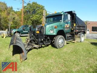 (T-3) 2001 Freightliner FL70 Dump Truck with Plow/Wing and Sander