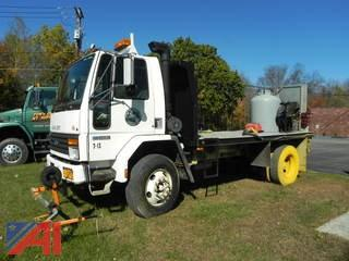 (T-13) 1993 Ford CF7000 Line Paint Truck