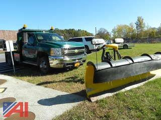 (T-14) 2008 Chevy Silverado 3500HD Dump Truck with Plow