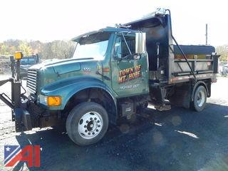 (T-8) 2002 International 4700 Dump Truck with Plow & Sander