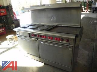 Vulcan 6 Burner Electric Stove with Griddle