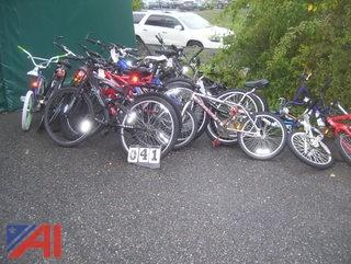 Large Lot of Bicycles