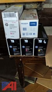Various HP LaserJet Toner Cartridges