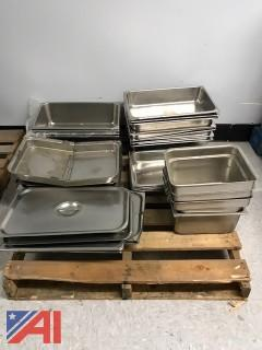 Assorted Cooking Heating Well Trays and Lids