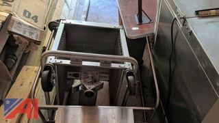 Stainless Steel Epco Rack & Stainless Steel Silverware Cart