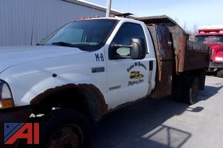 2003 Ford F550 Dump Truck with Plow