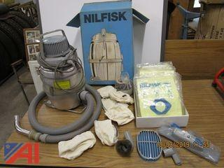 Nilfisk Portable Vacuum Cleaner and Cortech Grunge Buster Scrubber