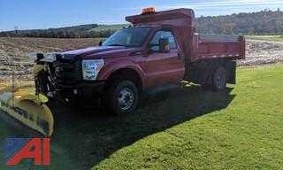 2015 Ford F350 XLT Super Duty Dump Truck with Plow