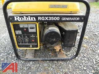 (12) Robin RGX3500 Generator