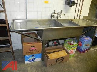 (3) Stainless Steel 2 Bay Sink