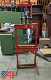 Dayton Hydraulic 15-Ton H-Frame Shop Press