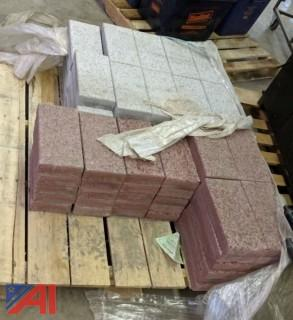 Pallet of Red & Gray Landscaping Bricks