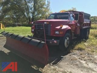 1997 Ford F800 Dump Truck with Plow and Spreader