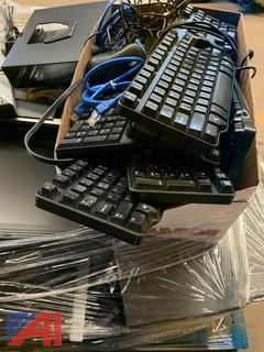 Pallet of Monitors, Hard Drives and More