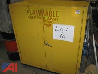"18"" x 43"" Fire Proof Paint Cabinet"