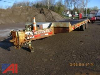 2002 Interstate 40DLA 20 Ton Flat Bed Trailer with Ramps