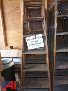 (1579) 6' Wood Step Ladders