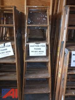 (1580)  Wood Step Ladders