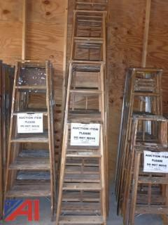 (1581) Misc. Lengths of Wood Step Ladders